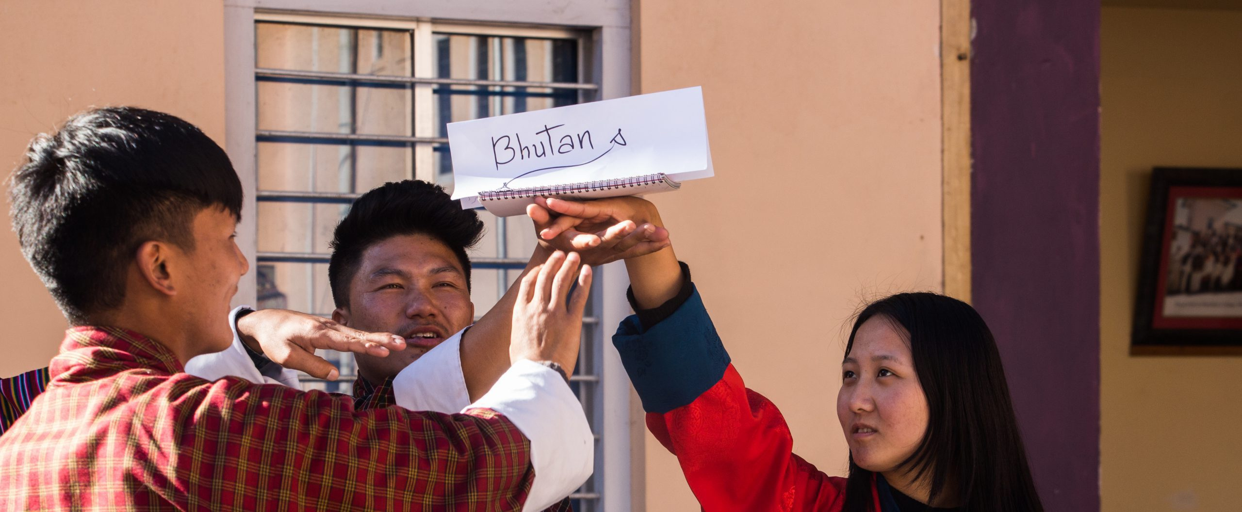 Sherubtse students present their ideal Bhutan during the Peer-Facilitation training